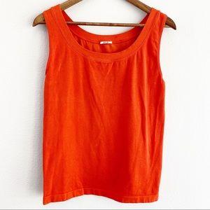 Wolford Athens Tank Orange Sleeveless Top